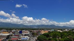 Dumaguete City Skyline Hyper Lapse 02. A panaromic hyper lapse video of Dumaguete City skyline facing Mt. Talinas spanning roughly 180 degrees stock video footage