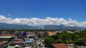 Dumaguete City Skyline Hyper Lapse 01. A panoramic hyper lapse video of Dumaguete City skyline facing Mt. Talinas spanning roughly 180 degrees stock video