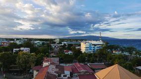 Dumaguete City Skyline Time Lapse 01 stock footage