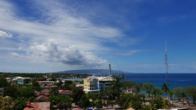 Dumaguete City Skyline Time Lapse 03 stock video footage