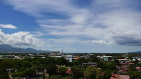 Dumaguete City Skyline Time Lapse 02 stock video