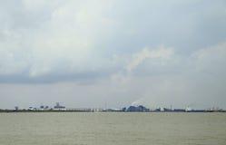 Dumai市,印度尼西亚工业区  免版税库存照片
