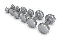 Dumb-bells. Equipment for the weight training Royalty Free Stock Photos