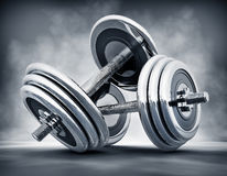 Dumb bells Stock Image
