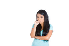 A dumb young girl thumb sucking Stock Images