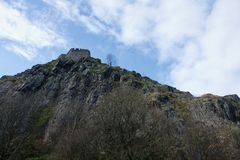 Dumbarton Rock and Castle Stock Photo