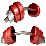 Dumbbell. This graphic is a sports object Stock Image