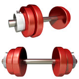 Dumbbell. This graphic is a sports object Royalty Free Stock Photo