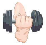 Dumbbell. Royalty Free Stock Images