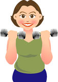 Dumbbell. A woman is doing exercise with dumbbell Stock Image