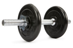Dumbbell. Hand weight isolated on white. Clipping path incl Royalty Free Stock Photos
