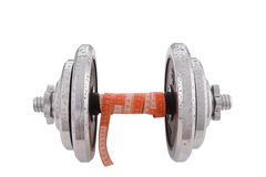 Dumbbell. Concept of real hard weightlifting Stock Photography
