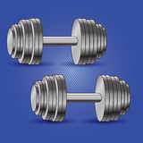 Dumbbell background Royalty Free Stock Photography