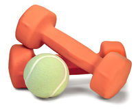 Dumbbell and ball Stock Photos