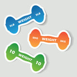 Dumbbell banners Stock Image