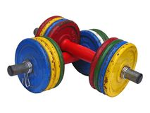 Dumbbell Bars 2. Weightlifting Dumbbell Bars used for fitness Royalty Free Stock Photos