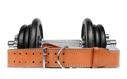 Dumbbell with belt Stock Photos