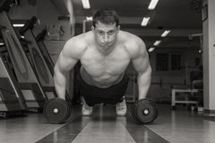 Dumbbell Bench on the floor Stock Images