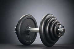 Dumbbell with Black Discs Royalty Free Stock Photos