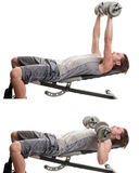 Dumbbell Chest Press stock images