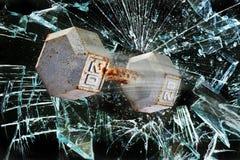 Dumbbell ciężar przez szkła Fotografia Royalty Free