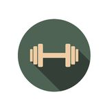 Dumbbell circle icon Stock Photo