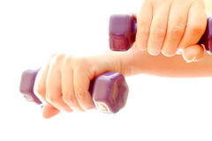 Dumbbell exercise Stock Photo