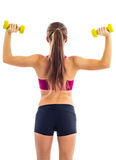 Dumbbell exercise for arms Royalty Free Stock Photo