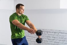 dumbbell exercise Stock Photography