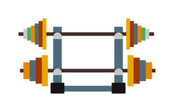 Dumbbell exercise weights gym fitness equipment vector. Stock Photos