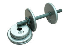 Dumbbell with Extra Plates Stock Photo