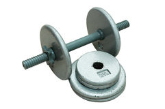 Dumbbell with Extra Plates 2 Stock Photo