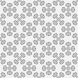 Dumbbell fitness seamless pattern Royalty Free Stock Photos