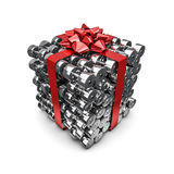 Dumbbell gift Royalty Free Stock Photo
