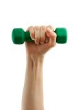 Dumbbell in hand Royalty Free Stock Images