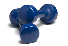 Dumbbell hand weights Stock Photo