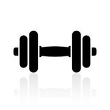 Dumbbell icon Stock Images