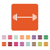 The dumbbell icon. Bodybuilding symbol. Flat Royalty Free Stock Photography