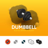 Dumbbell icon in different style Stock Photo