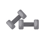 Dumbbell icon image Royalty Free Stock Photos