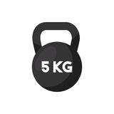 Dumbbell icon image Royalty Free Stock Image
