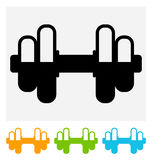 Dumbbell Icon Royalty Free Stock Photos