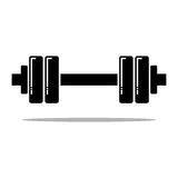 Dumbbell  icon Royalty Free Stock Photography