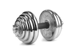 Dumbbell isolated over white background Royalty Free Stock Photography
