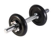 Dumbbell isolated on a white Royalty Free Stock Image