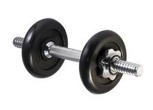 Dumbbell isolated on a white stock image
