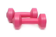 Dumbbell isolated on white Stock Photos