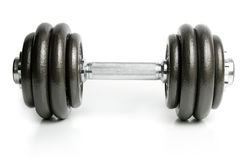 Dumbbell isolated on white Royalty Free Stock Image