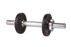 Dumbbell isolated on white Royalty Free Stock Photography