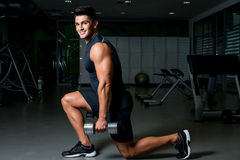 Dumbbell Lunge Stock Photography
